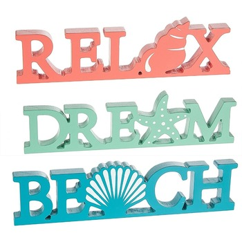 Custom Nautical Ocean Word Saying Plaques wall hanging plaques