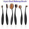 Toothbrush Oval Makeup Brush, Cosmetic Makeup Brushes Set of 6