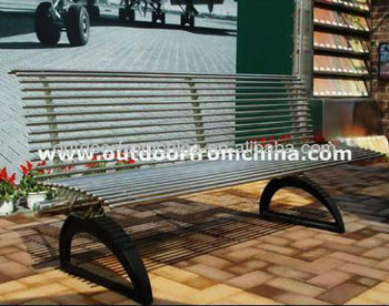 2013 cast iron stainless steel tube park bench