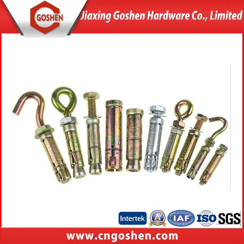 different types zinc plated steel sleeve anchor bolt