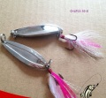 fishing minnow lure metal blade iron plate fishing bait Shell spoon bait with Feather three anchor hook