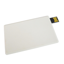 high speed usb 3.0 plastic credit card usb flash drive white color