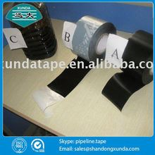 black color cold applied self adhesivee inner wrap tape for pipes for buried pipe