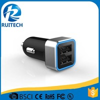 high quality dual USB port car charger with fast speed charging