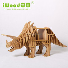 Animal shape model wooden dinosaur skeleton model