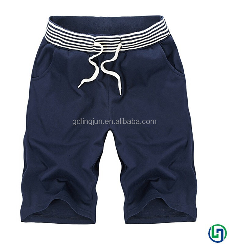 Top selling cotton polyester plain sweat shorts fashion mens gym shorts Korean casual trousers