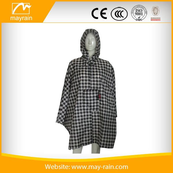 PVC hooded rain coat bicycle / Electronic bike PVC rain poncho
