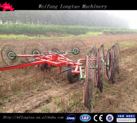 With CE approved 8 Discs Wheel Types Trailer Hay Rake, Carted Hay Rake,Hay Tedder