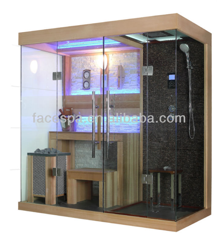 zuhause dampf sauna mit duschkabine fs 1404 f r modernes haus design dusche zimmer produkt id. Black Bedroom Furniture Sets. Home Design Ideas