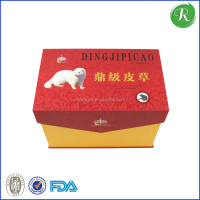 Fashion design paper packing box for top fur/mink packaging box