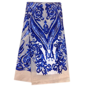 Hot develops French Nigerian lace fabric 2017 high quality African lace fabrics Guangzhou lace manufacturer for evening dresses