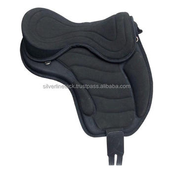 Synthetic Treeless Saddle With Girth And Leathers.