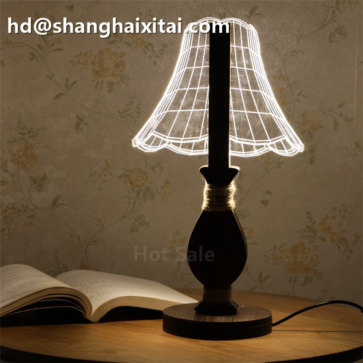 Hot sell Nature Friendly Wooden led usb colors changing sleeping night light with best price