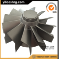 vacuum casting superalloy turbine wheel mtu marine parts