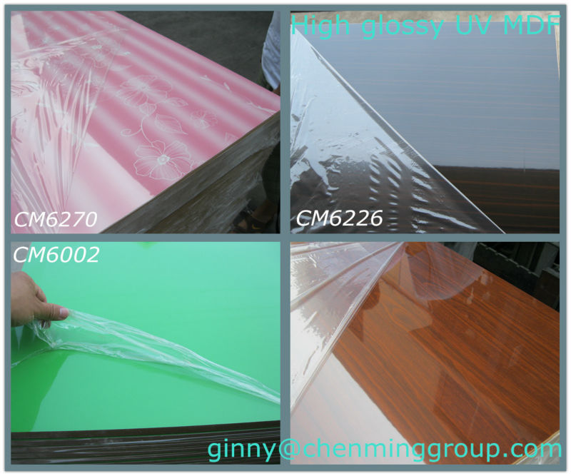 UV painting MDF High glossy board for furniture