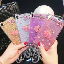 Luxury 3D Diamond Bling Glitter Rhinestone Clear Transparent Cases Cover For iPhone 7 7Plus 5 5s 6