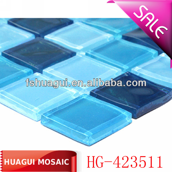 sea blue glass mosaic tile for swimming pool