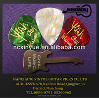 Custom your liked Tortoise gold printing guitar picks