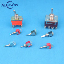 heavy duty metal handle latching / momentary dpdt toggle switch