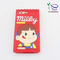milky little girl silicone cell phone cases for sumsung galaxy j5 case