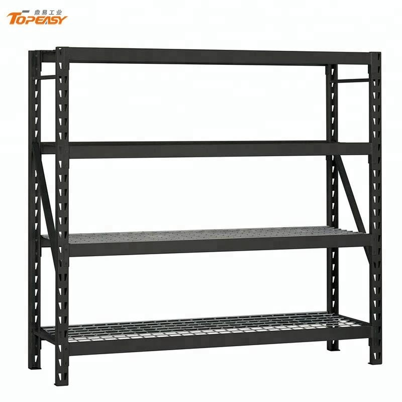 Custom black powder coating rack metal <strong>shelf</strong> with wire mesh deck