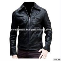 High Quality Stylish Leather Jackets made in soft tanned cowhide skin leather for high quality garments seller