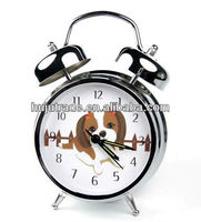 Music twin Electronic Metal Galvanized Cartoon Retro Bell Alarm Clock