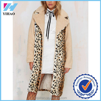 Yihao 2015 new designs women longline spot Shearling Coat