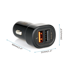 IBD qc3.0 intelligent smart IC dual usb quick charge car charger for mobile power bank