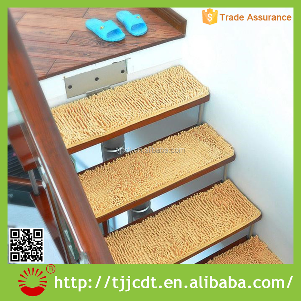 100% polyester low stair tread mat