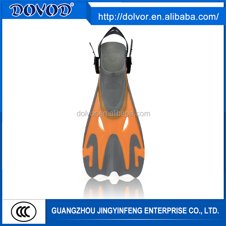 Various color open foot pocket fin diving equipment silicone fins
