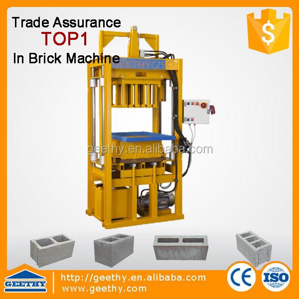 road construction equipment C25 brick manufacturing machine equipment block make machin
