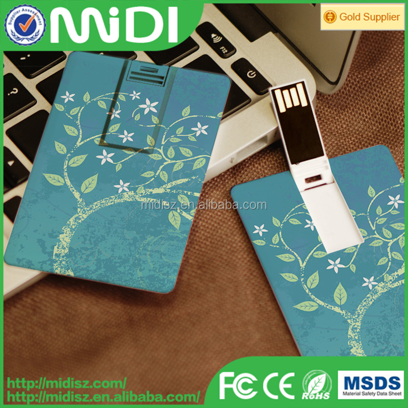 popular top sales christmas electronic gifts usb flash disk credit card usb flash drive /custom design usb