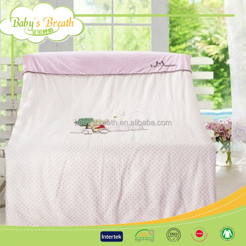 BBS320 Home sense embroidery baby round crib bedding, wholesale bedding