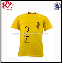 Male Cotton Silk Screen Printing T Shirt 95% Cotton 5% Elastane with OEM Service