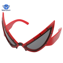Cool Spiderman sunglasses Costume Mask Funny Cosplay Super Hero Toy Glasses Birthday Party Decorations For Kids