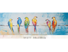 Abstract Bird Fabric Painting, Canvas Print for Oil Paintings Modern Canvas Wall Art for Living Room Decorations