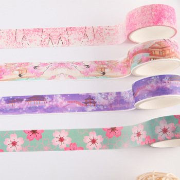 Stock Roll Hand Account Japanese Make Paper Wide Lovely Cartoon Adhesive DIY Washi Masking Tape