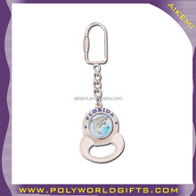 spinner souvenir key with bottle opener,metal keychain with carabiner,aluminum alloy bottle opener key chain