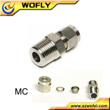 GAS LINE compression male screw tube union fitting connector