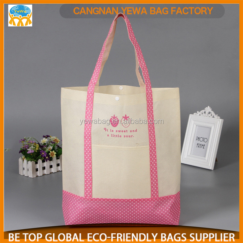 Customized nonwoven foldable reusable bags shopping