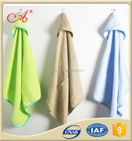 animal embroidery 100%cotton hooded baby towels
