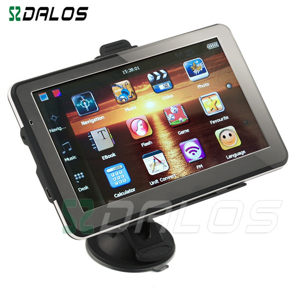 Hot sale android 7 inch 800x480 car multimedia gps navigation wince 6.0 core version with free world map