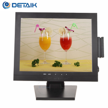 Detaik 15 inch LED Computer Monitor 15'' TFT LCD PC Touch Screen Monitor with MSR