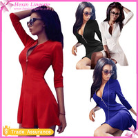 Four Color Newest DesignLadies Smart Sexy Casual Dress