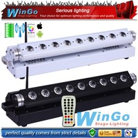 9*15W remote control battery operated W-DMX wall washer lights RGBAW / remote control & W-DMX battery operated LED stage light