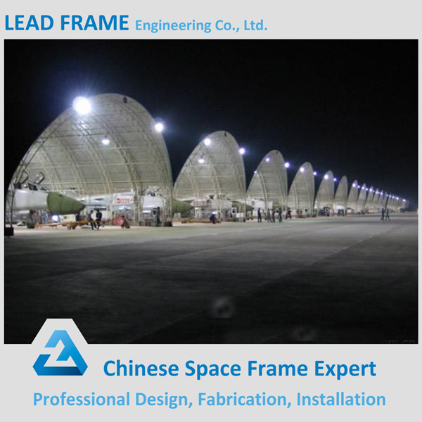 long span anti-rust space frame roof metal hangar