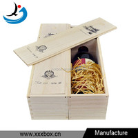 Single bottle wood wine box carrier crate case