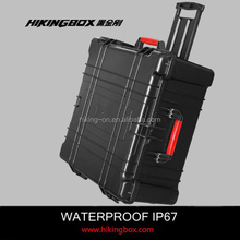 ABS Material Case Type /hard shell plastic equipment case /shockproof large storage case with wheels&handle HTC027