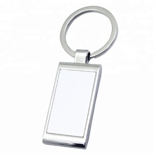 Wholesale Personalised Gifts Rectangle Blank Metal Keyring